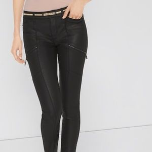 WHBM Coated Skinny Jeans